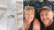 Tourist's warning after 'very concerning' find on duty-free receipt