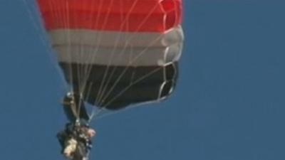 Giffords Skydives on Shooting Anniversary