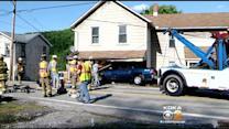 Pickup Truck Crashes In Elizabeth Twp. Home