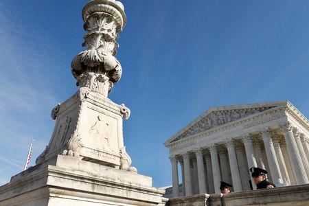 U.S. Supreme Court is seen in Washington, U.S., November 27, 2017. The Court, which has avoided major gun cases for seven years, on Monday declined to hear a challenge backed by the National Rifle Association to Maryland's 2013 state ban on assault weapons enacted after a Connecticut school massacre. REUTERS/Yuri Gripas