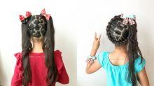 去迪士尼做足準備!日本媽媽無師自通將米奇米妮編織在女兒髮絲上