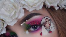 Makeup artist impressively adds Bebe Rexha to eye look