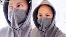 Chrissy Teigen's latest style hack includes a genius update to standard face masks