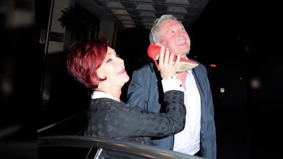 Sharon Osbourne Goofs Around With Nicole Scherzinger and Louis Walsh