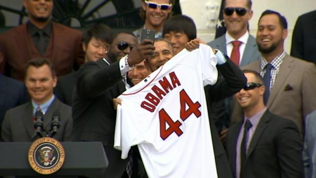 President Obama Plays Ball With 'Big Papi' Selfie Request