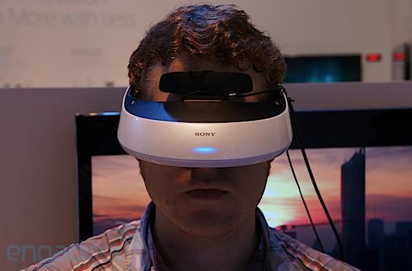 Sony HMZ-T2 3D display, heads-in (video)