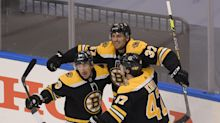 Patrice Bergeron scores in second overtime as Bruins top Hurricanes 4-3 in Game 1