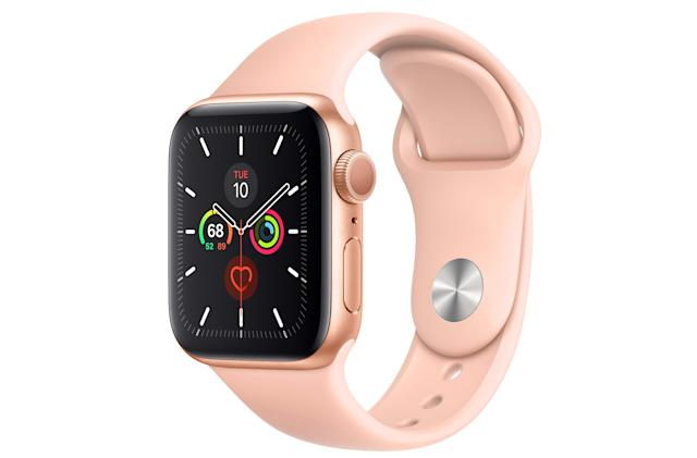 A pink and gold Apple Watch Series 5 can be yours for $329 on Amazon