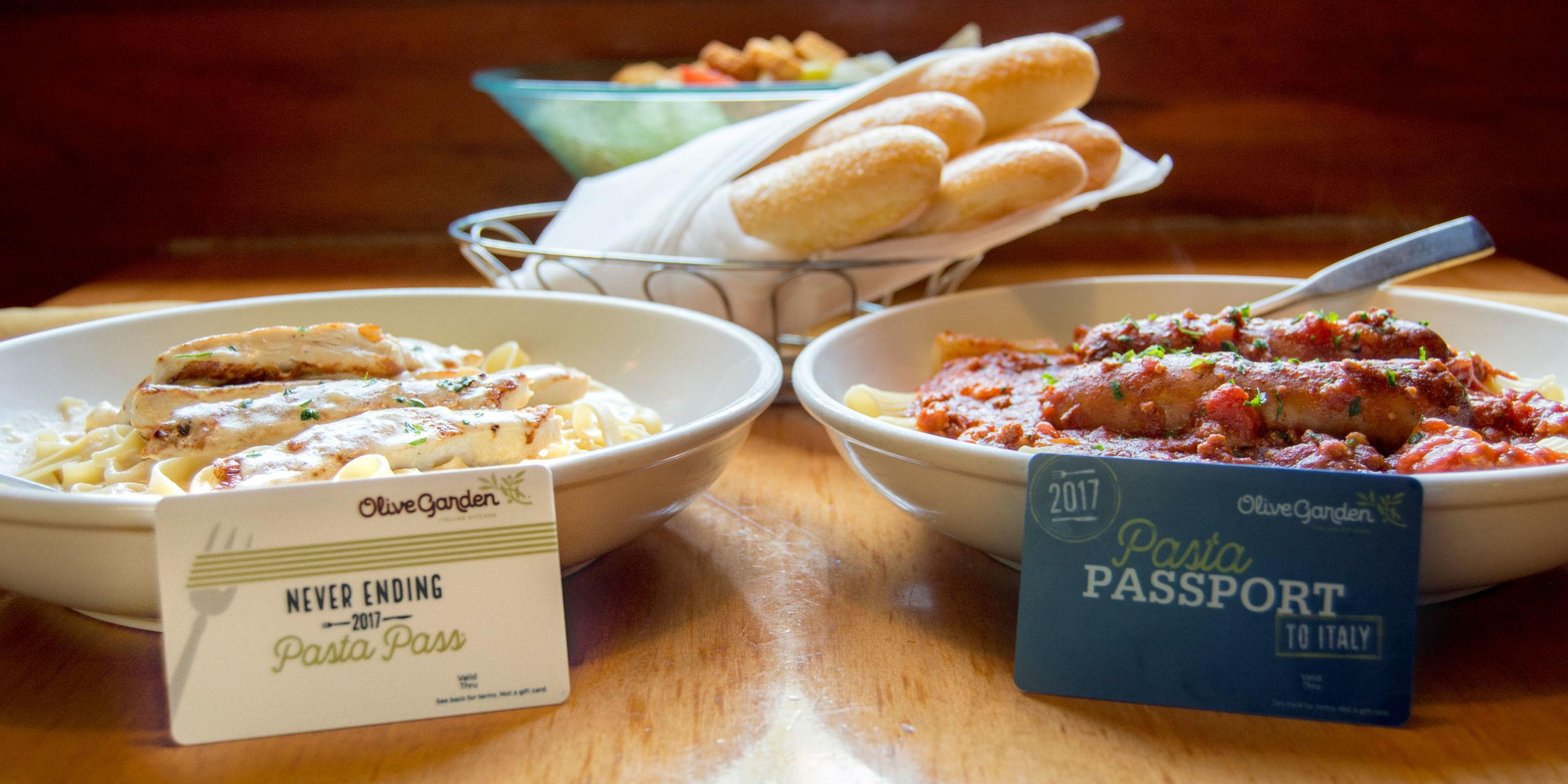 Olive Garden\'s New Never Ending Pasta Pass Is Better Than Ever