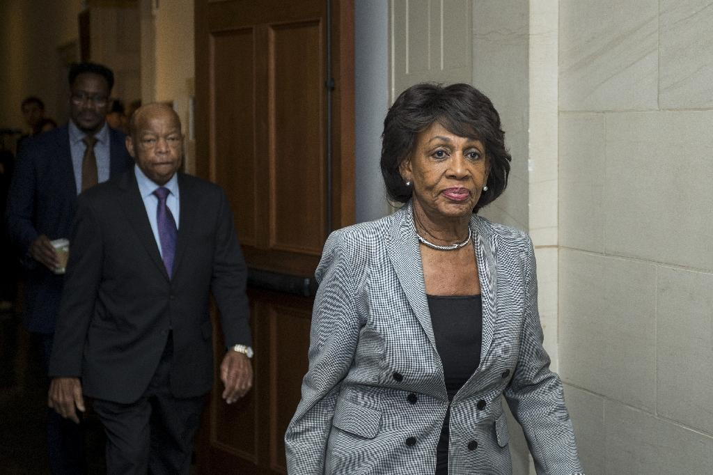 Maxine Waters, 80, is the new Democratic head of the House Committee on Financial Services (AFP Photo/Zach Gibson)