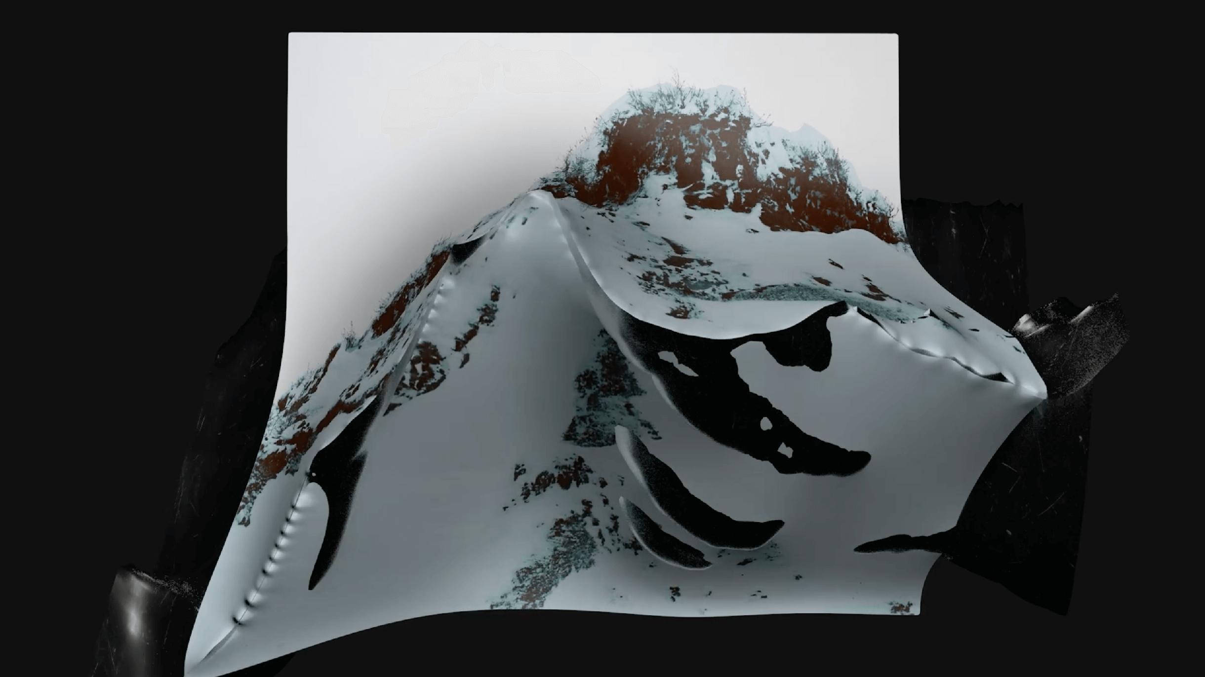 A CGI rendering of arctic terrain