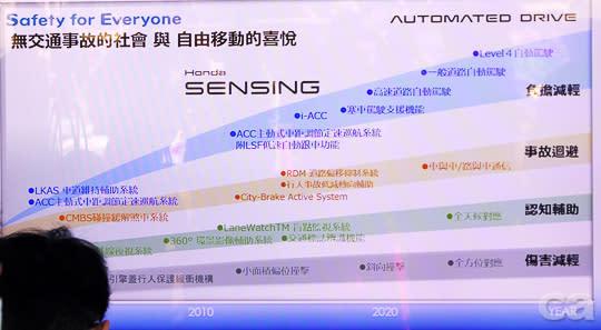 在Honda的簡報中也以〝無事故〞作為主要願景。