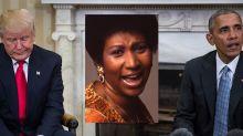 So unterschiedlich reagieren Trump und Obama auf denTod von Aretha Franklin