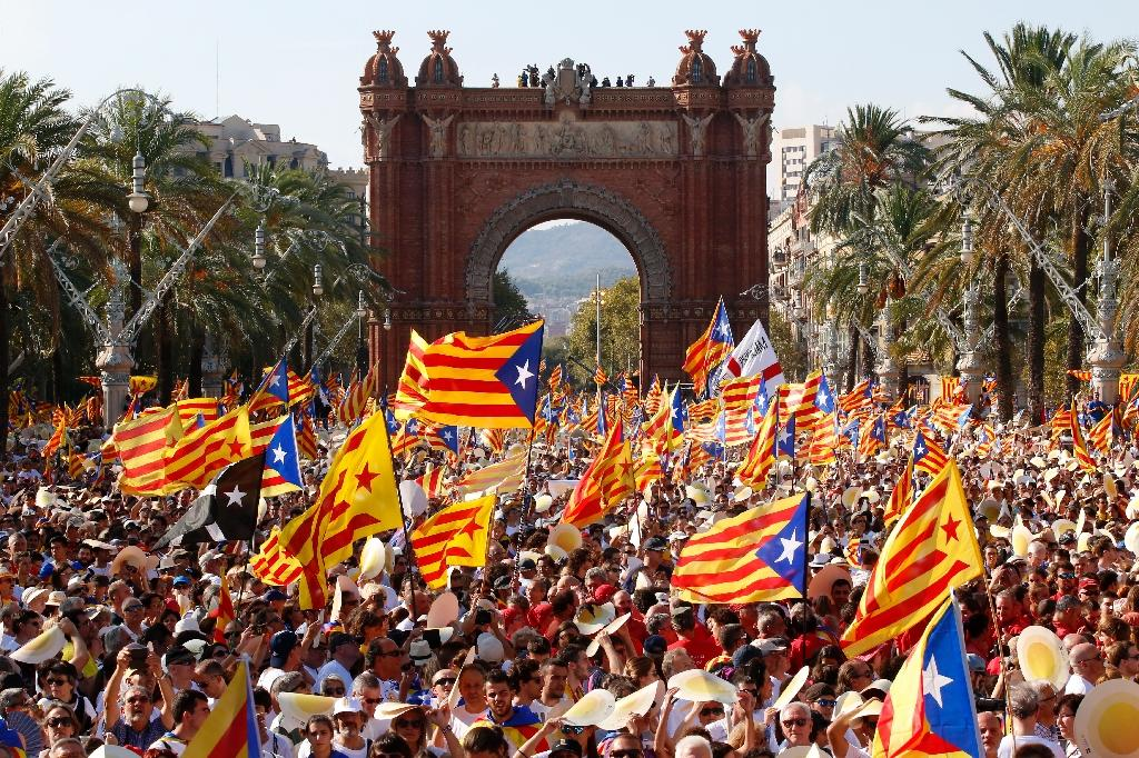 Major demonstrations are held every year on September 11, Catalonia's national day