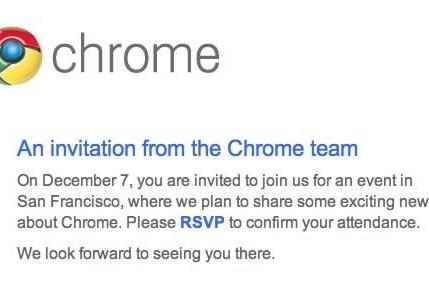 Chrome event confirmed by Google for December 7th