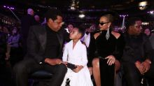 Beyoncé shows up fashionably late for Grammys — with Blue Ivy