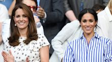 Kate Middleton and Meghan Markle Wore Matching Updos to Prince Charles's 70th Birthday
