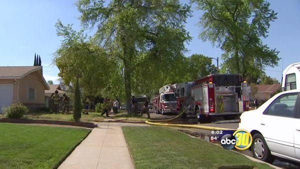 Close encounter in a Fresno family house fire