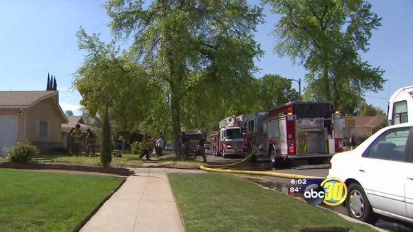 Close encounter in a Fresno family house fire