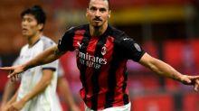 Foot - WTF - Zlatan Ibrahimovic (AC Milan) offre un maillot dédicacé à Danny Green avant la finale NBA