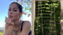Mayra Cardi mostra jardim vertical gigante de sua nova mansão