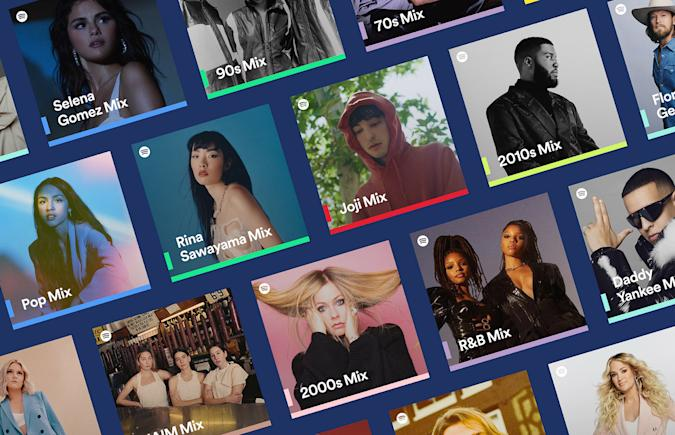 Spotify's new personalized mixes focus on artists, genres and decades
