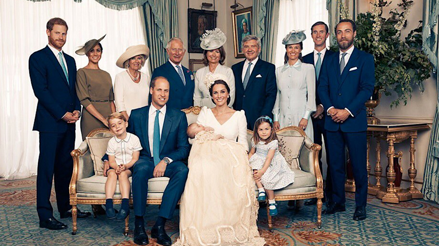 Photos released from Prince Louis' christening