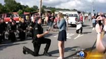 Lake Station, Ind. officer proposes to girlfriend at Fourth of July parade