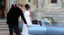 Prince Harry and Megan Markle leave Windsor Castle