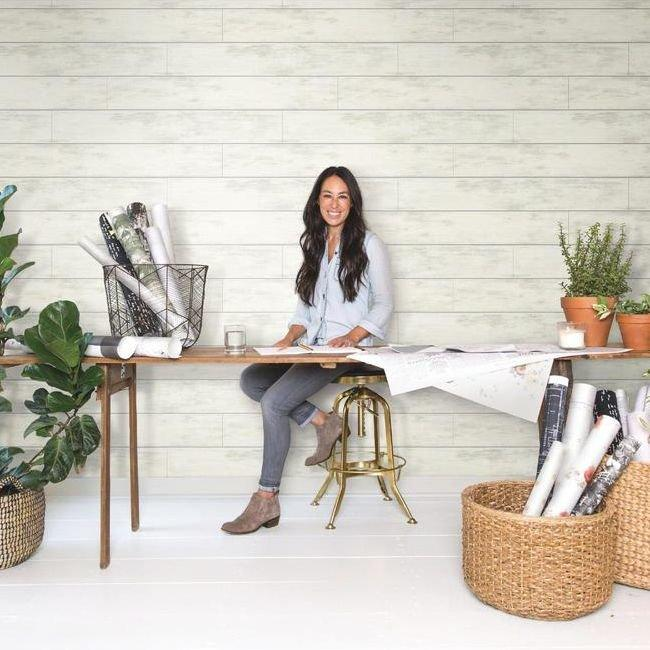 Joanna Gaines Removable Shiplap Wallpaper For Style Without