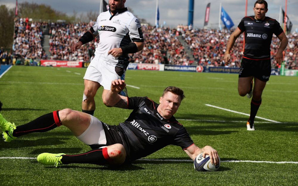 Chris Ashton scores a try for Saracens - Getty Images Europe