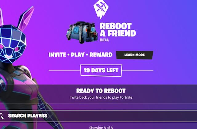 'Fortnite' is trying to get squads back together with 'Reboot a Friend'