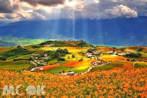 六十石山山景優美,有台灣最美金針花園封號。(圖片提供/墨刻編輯部)