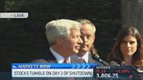 Jamie Dimon arrives at the While House