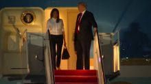 Trump returns to U.S. after meeting Putin