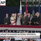 Audience sits close at Trump's Mt Rushmore event