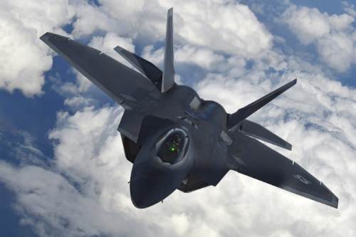 F-22 Raptor stealth fighters will be involved in next month's drill [REUTERS/Toby Melville]