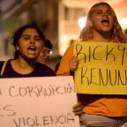Protesters gather outside governor's mansion in Puerto Rico demanding resignation