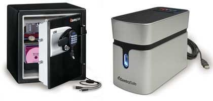 Sentry and Maxtor team up for SentrySafe FIRE-SAFE/Waterproof safe and drives