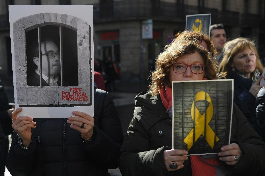 Many separatists are convinced that their leaders were jailed for political reasons and will not have a fair trial (AFP Photo/LLUIS GENE)