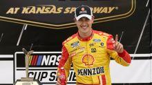 Joey Logano beats Kevin Harvick at Kansas to clinch a chance at the 2020 NASCAR Cup Series title