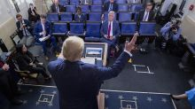 Trump touts TV ratings of coronavirus briefings