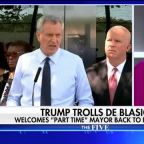 President Trump trolls Bill de Blasio, welcomes 'part time' mayor back to New York