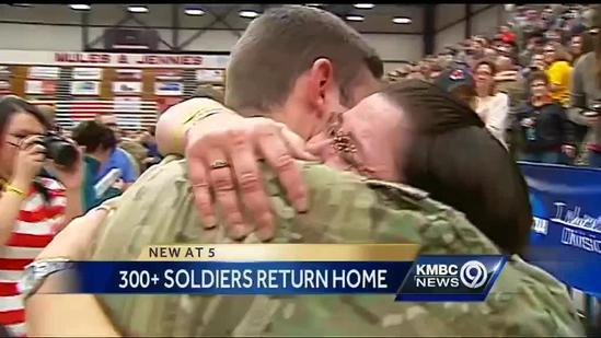 Missouri troops come home to smiles, hugs