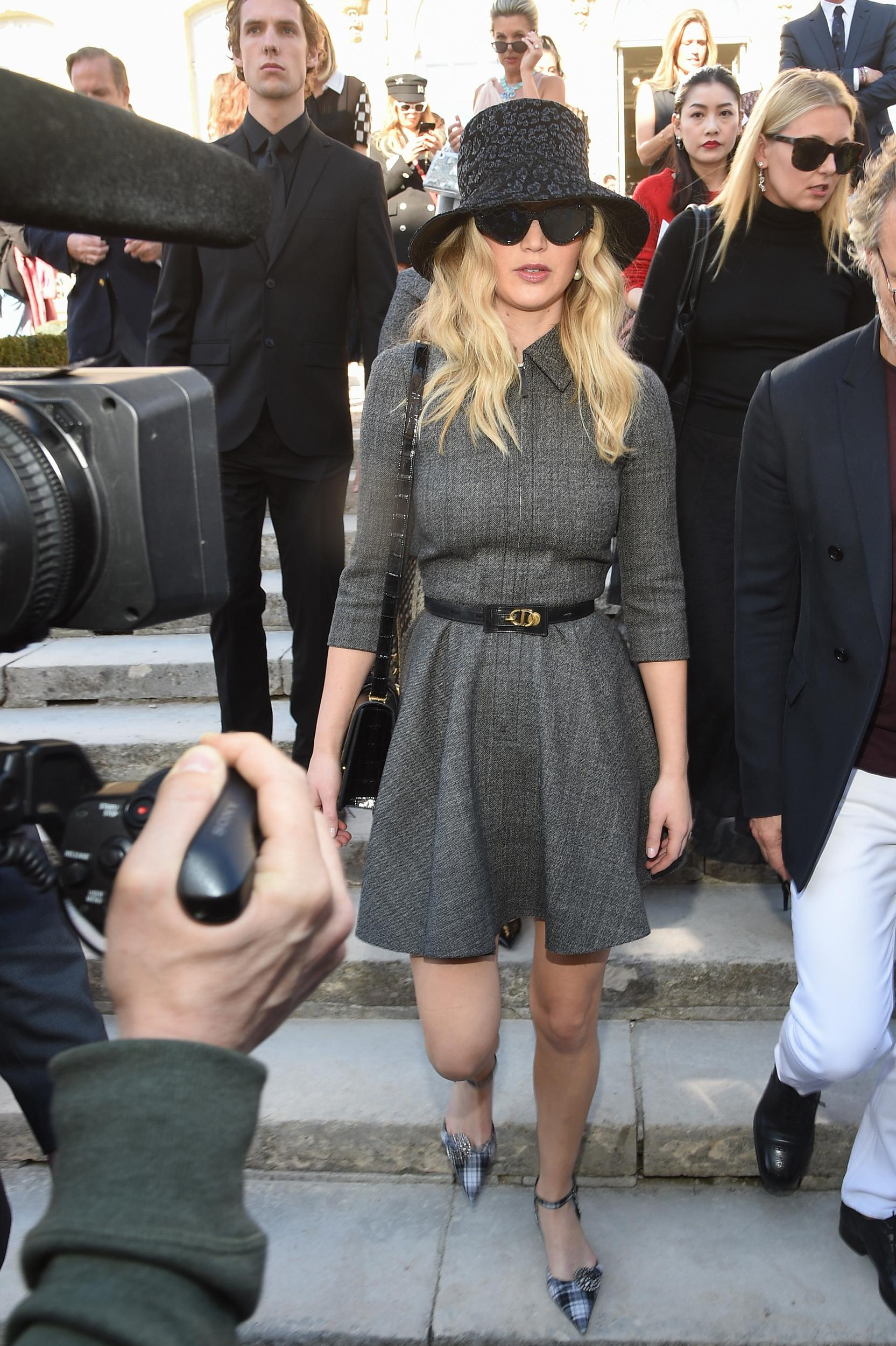PARIS, FRANCE - FEBRUARY 26:Actress Jennifer Lawrence attends the Christian Dior show as part of the Paris Fashion Week Womenswear Fall/Winter 2019/2020 on February 26, 2019 in Paris, France. (Photo by Stephane Cardinale - Corbis/Corbis via Getty Images)