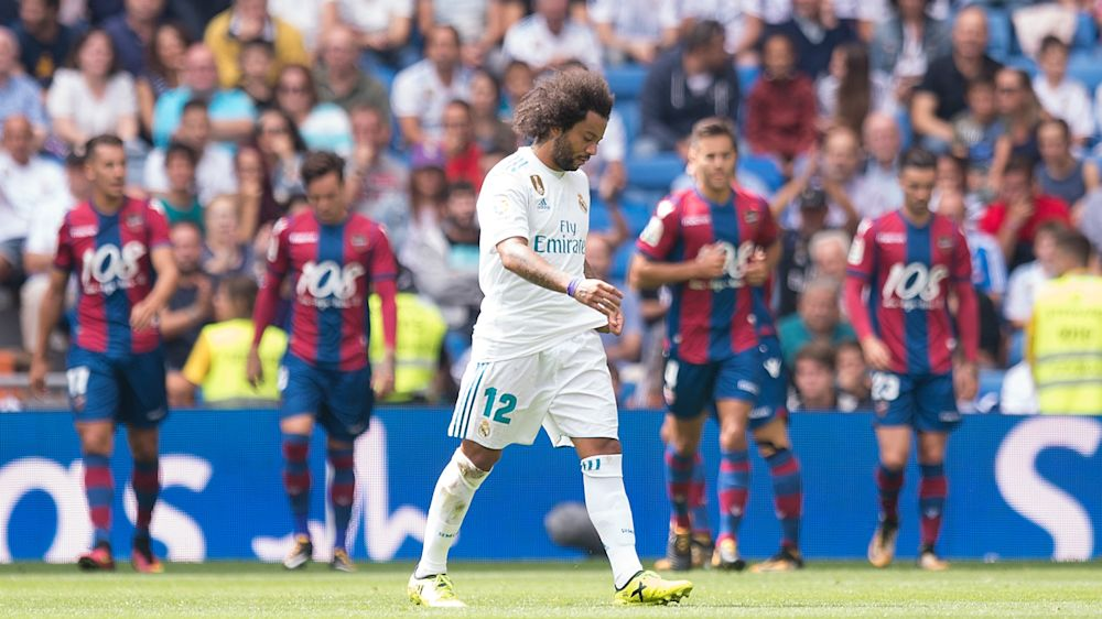 Real Madrid 1 Levante 1: Zidane rotations fail, Marcelo sent off as champions draw again