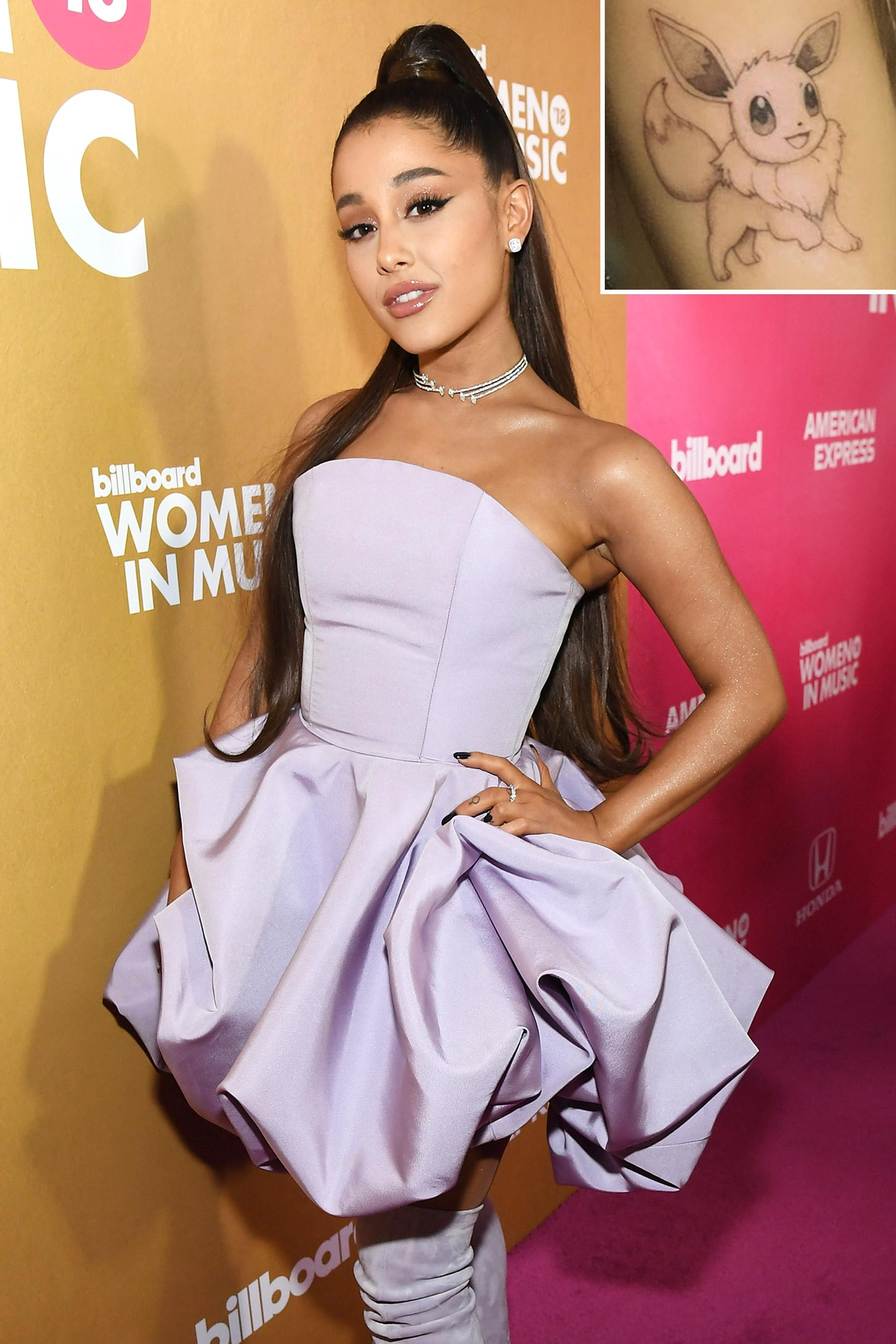 1fcd70206 Ariana Grande Shows Off New Pokémon Tattoo After Admitting She Played the  Game for '15 Hours'