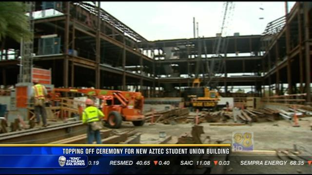 Topping off ceremony for new Aztec Student Union building