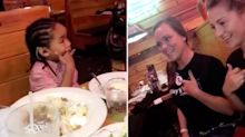 Heartwarming moment waitresses sing happy birthday to deaf boy in sign language