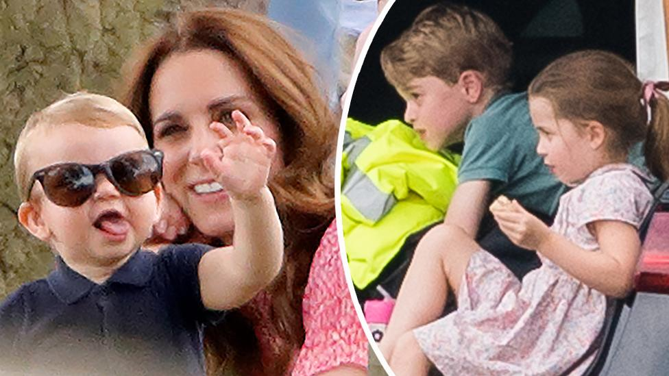 Kate juggles all three kids on cute royal outing